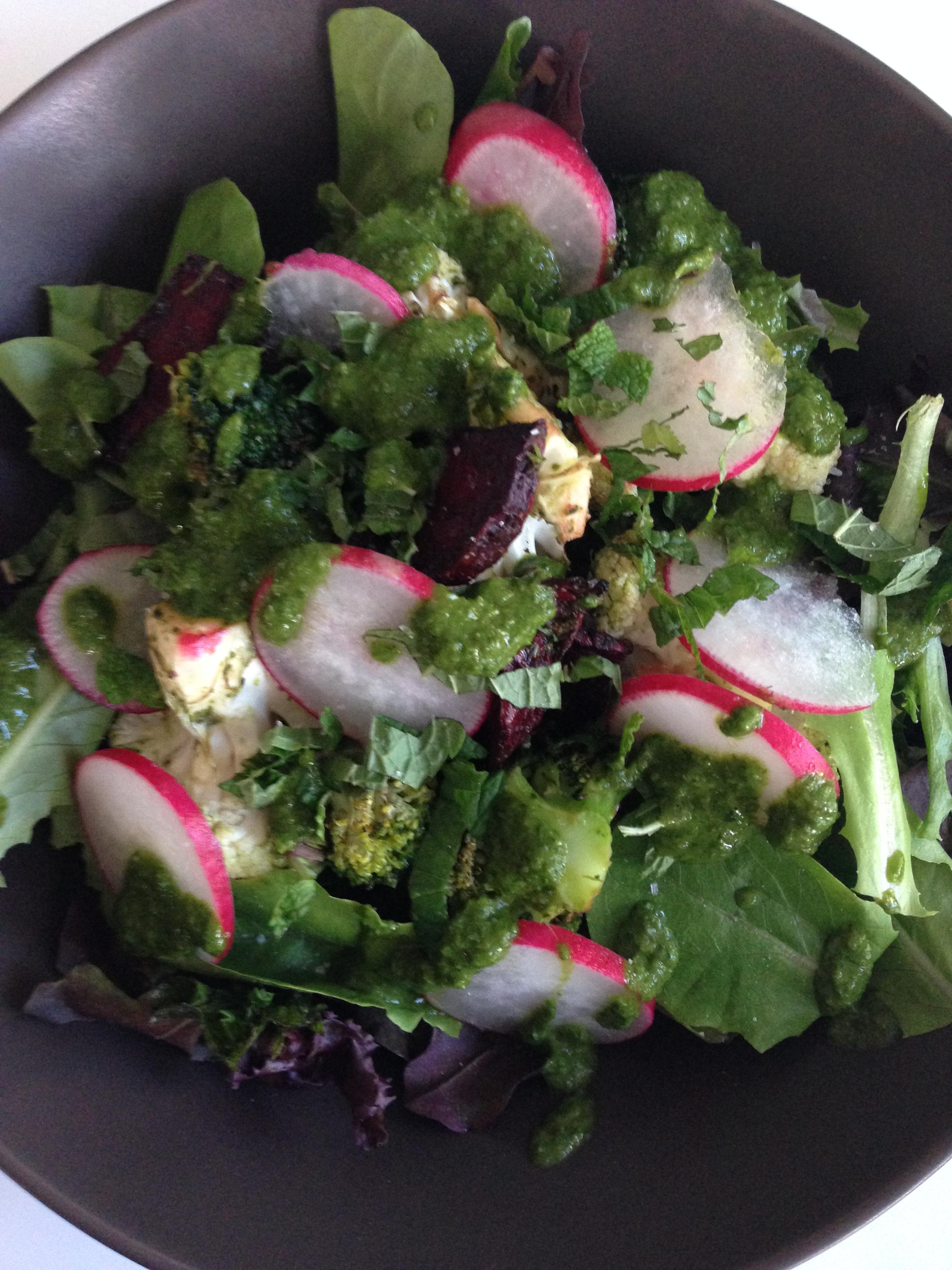 Gordon Ramsay Air Fried Vegetable Salad With Chimichurri Vinaigrette Big City Mama